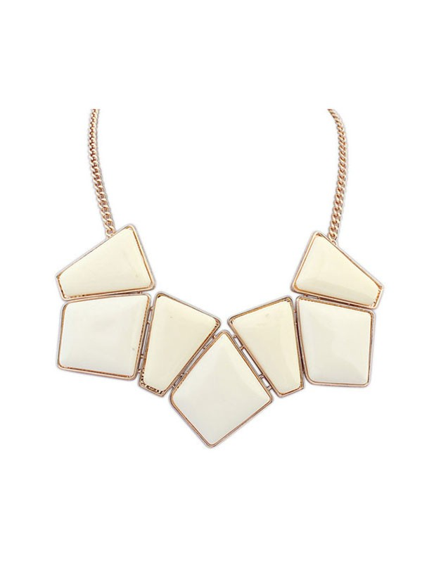 Occident Geometry Blocks All-match Hot Sale Necklace