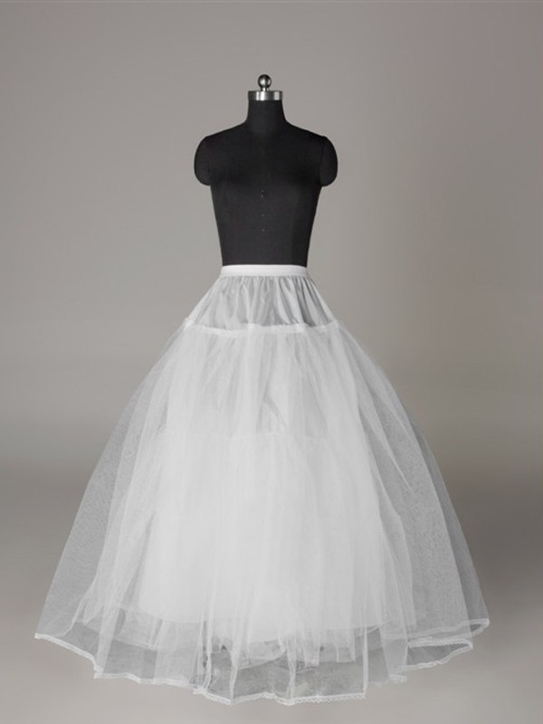 Tulle Netting Ball-Gown 3 Tier Floor Length Slip Style/Wedding Petticoats